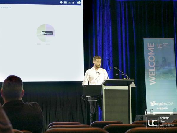 Noggin Solutions Consultant, Daniel Mackey at the 2019 Noggin UC